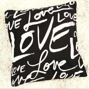 NWT Love Love Love Pillow